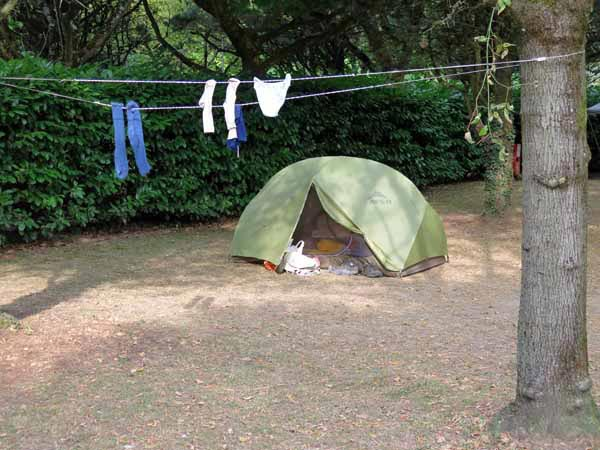 Walking in France: The grassless Clonas camping ground