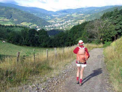Walking in France: Descending to Bourg-Argental