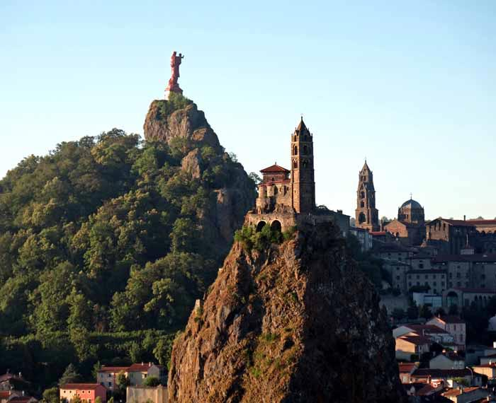 Walking in France: Le Puy's two puys, plus the cathedral