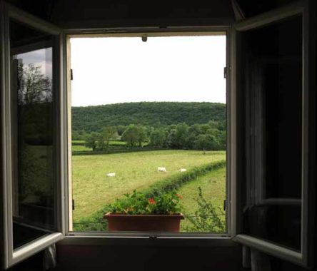 Walking in France: View from our hotel window