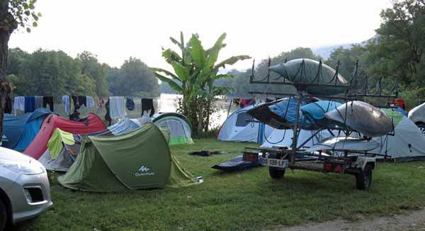 Walking in France: All quiet in the Yenne camping ground