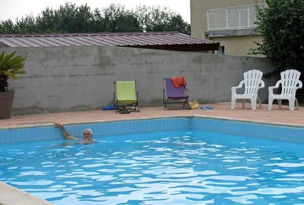 Walking in France: A cooling swim