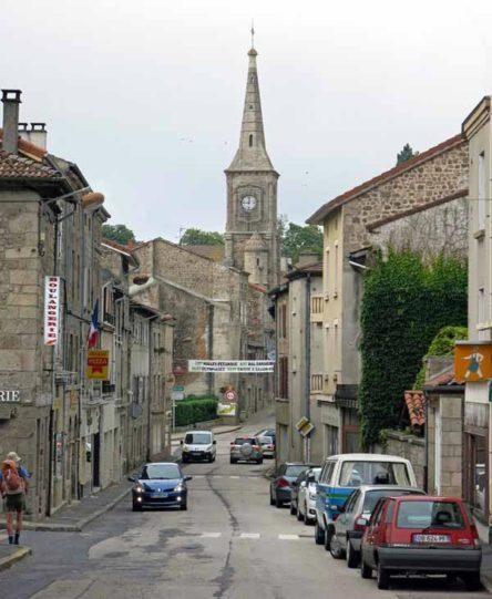 Walking in France: Leaving Montfaucon-en-Velay on the GR65