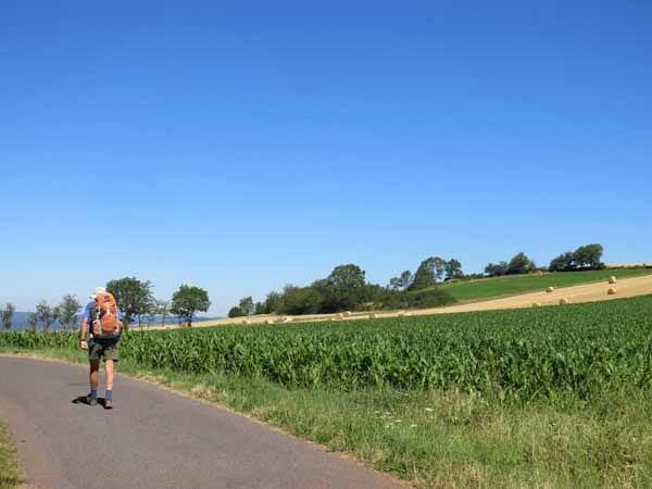 Walking in France: Getting hot