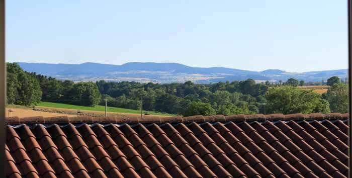 Walking in France: The view from our window, Hôtel des Voyageurs, Saint-Paulien