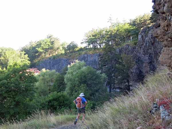 Walking in France: Descending to Borne