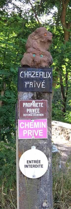 Walking in France: Definitely not welcome