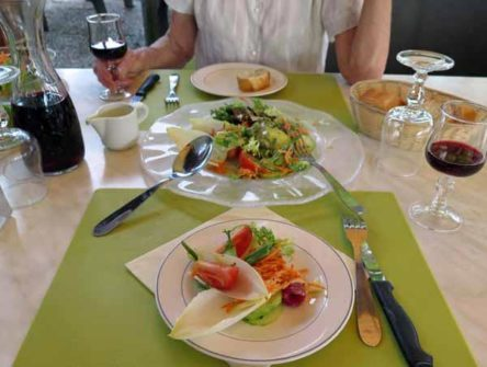 Walking in France: Crudités for starters