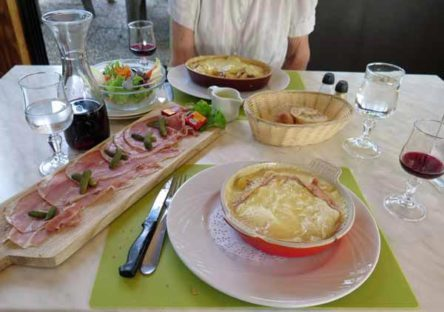 Walking in France: Followed by tartiflette and reblochon