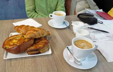 Walking in France: ... and the coffees and pastries