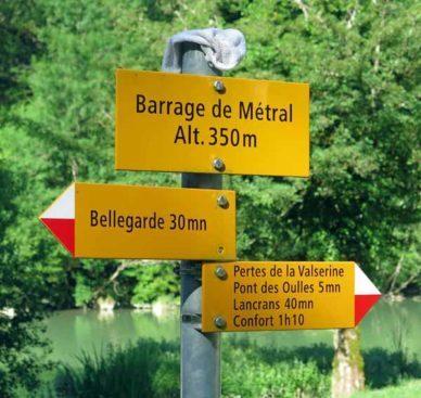 Walking in France: Seventy minutes after leaving Bellegarde!