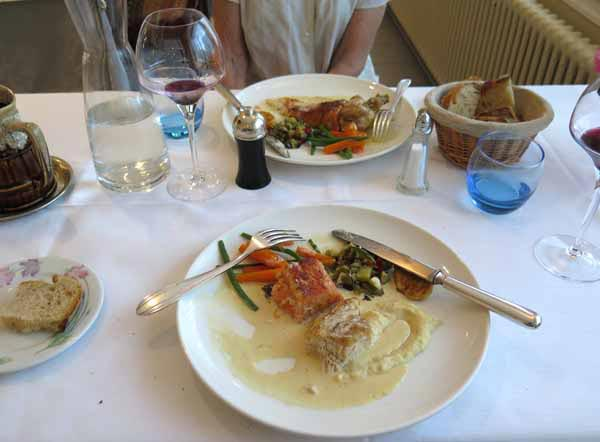 Walking in France: Followed by trout and guinea fowl