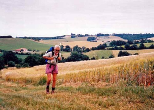 Walking in France: An ancient pilgrim making his way through the rolling hills of Gascony