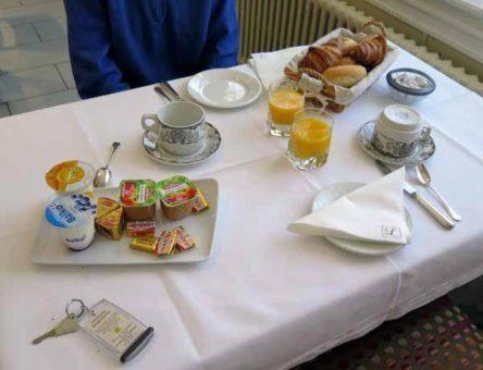 Walking in France: Our sustaining breakfast