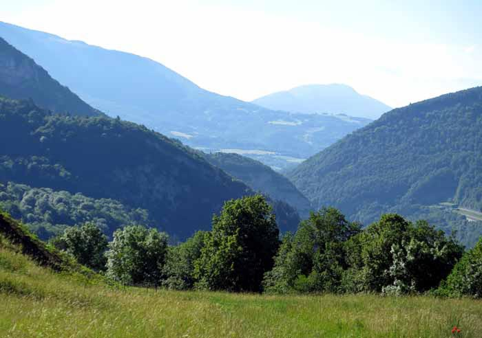 Walking in France: Looking back to where we had come from