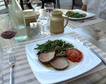 Walking in France: Then roast beef with vegetables for mains