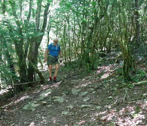 Walking in France: Start of the descent to Nantua