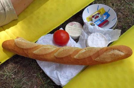 Walking in France: The makings of a delicious lunch
