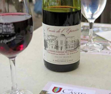 Walking in France: A camping ground with its own wine