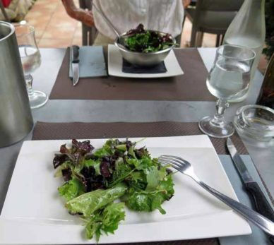 Walking in France: Followed by green salads