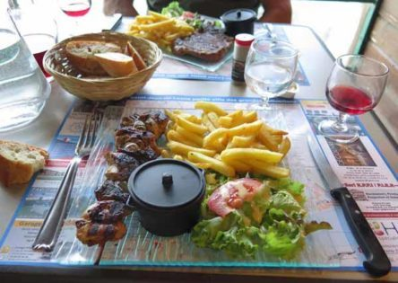 Walking in France: Followed by main courses