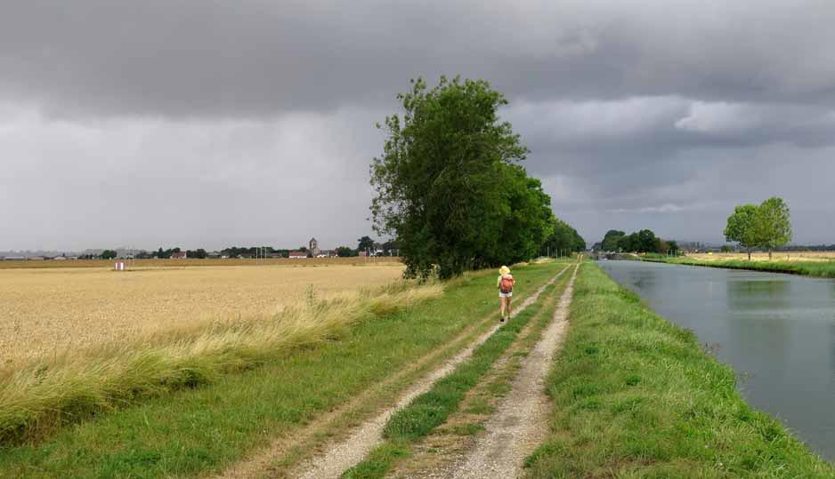 Walking in France: Some nasty looking weather ahead