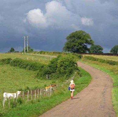 Walking in France: Ominous weather near Bessey-la-Cour