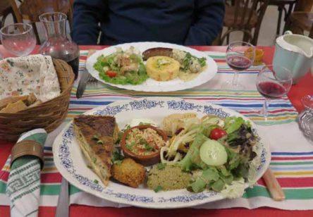 Walking in France: A grand assiette végétarienne