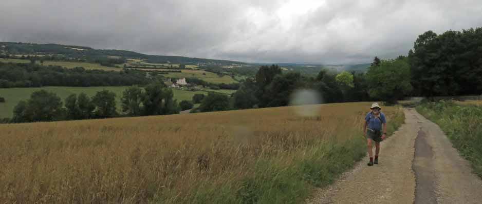 Walking in France: Rain again