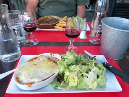 Walking in France: Our main courses, lasagne and ...