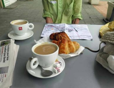 Walking in France: A welcome pause