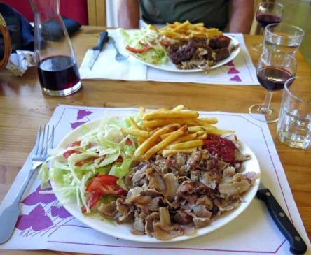 Walking in France: Our two dishes