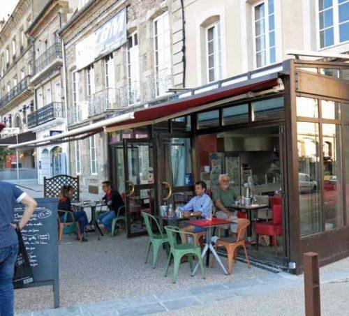 Walking in France: Brasserie du Commerce, Autun
