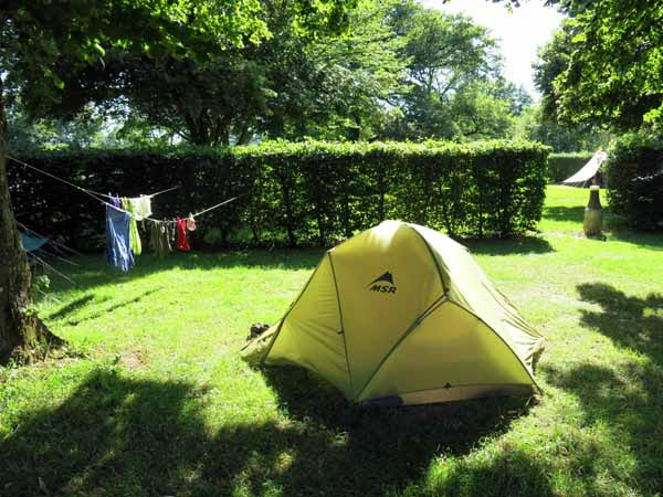 Walking in France: Étang-sur-Arroux's camping ground, nice place, pity about the power-crazed manageress