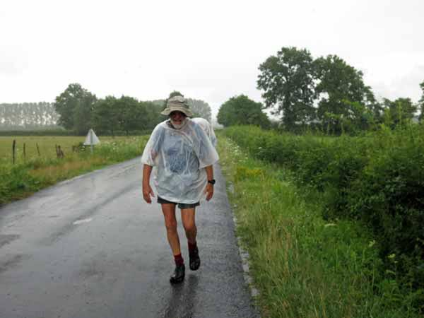 Walking in France: And down it came!