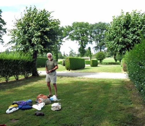 Walking in France: And goodbye to the Tronget camping ground