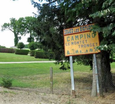 Walking in France: Welcome to the Tronget camping ground