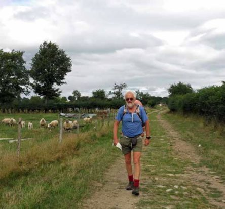 Walking in France: Turned around by a road block