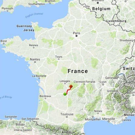 Walking in France: 2009 route