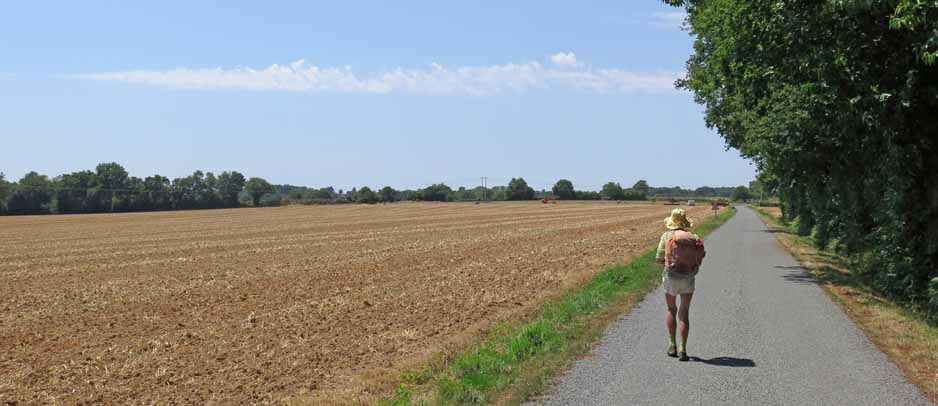 Walking in France: Getting very hot