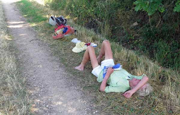Walking in France: Feeling the heat