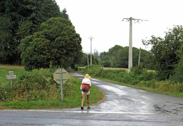 Walking in France: Rain