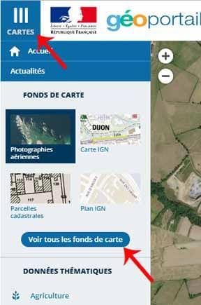 Walking in France: Choose a map style