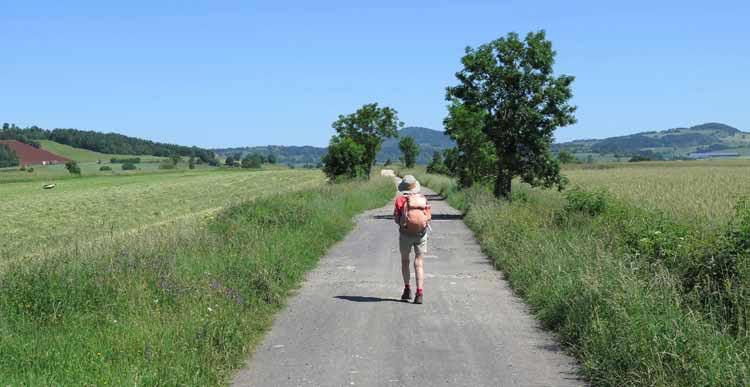 Walking in France: Approaching St-Paulien