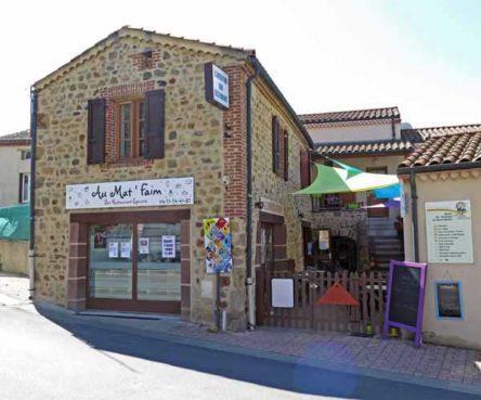 Walking in France: The wonderful Alimentation Bar Restaurant in Azérat