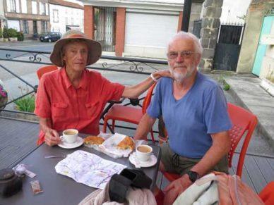 Walking in France: A delicious breakfast