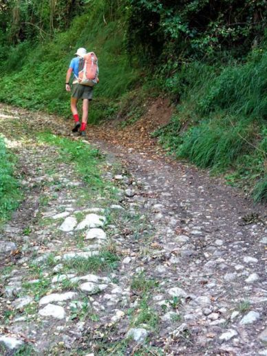 Walking in France: A stiff climb out of Ébreuil on the GR463