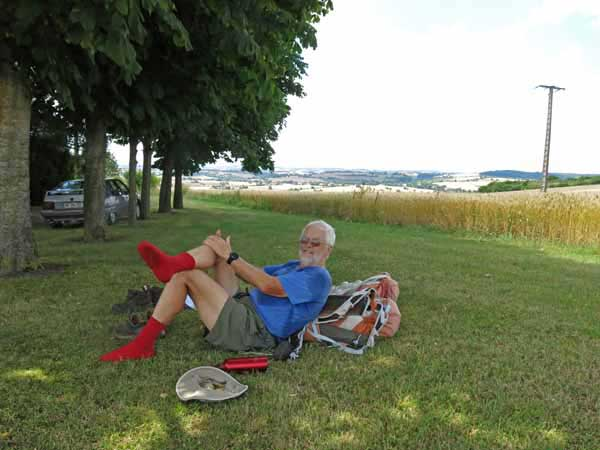 Walking in France: A beautiful place for a rest on a hot day