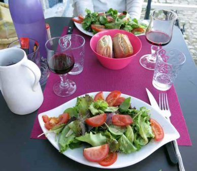 Walking in France: Salads to start our dinner