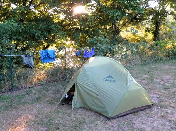 Walking in France: Beside the Loire, la Charité-sur-Loire camping ground